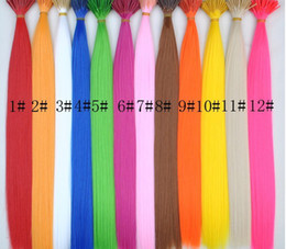 Wholesale Extension Solid - 18'' solid color single color synthetic rooster grizzly feather hair extension