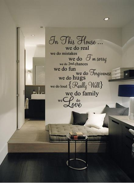 Funlife New 78x92cm House Rule 5 We Do Real Living Room Vinyl Wall