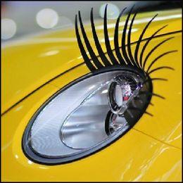 Wholesale Discount Eye - Wholesale 10 Pairs Car Headlight Eye Lashes Sticker Car eyelash Sticker Super Qualityey Detail Discount Promotion Decoration Car Accessories