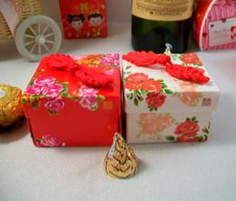 2019 figurine di alta qualità 100 pezzi di nozze faovrs stile cinese fiore scatola di caramelle box, scatola di favore, scatole regalo dolce