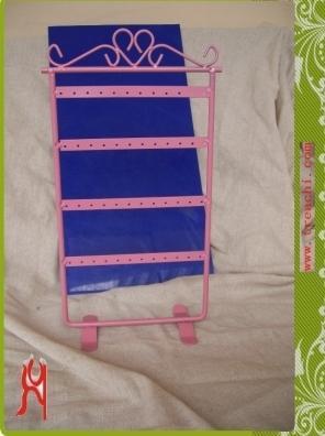 Gratis verzending Sieraden Display Sieraden Stand Roze Oorbel Houder Groothandel Prijs
