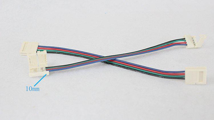 Neuer Entwurf führte Streifenverbindungsstück für 5050 RGB geführtes Streifenlicht mit Draht Freies Verschiffen