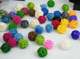Enchimentos de vasos on-line-Navio livre 200 pcs Mixed 3 cm Natural Twig Balls Vaso Filler Table Scatter nupcial Do Casamento Do Chuveiro de Bebê