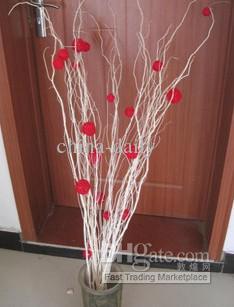 무료 배송 혼합 3cm 자연 나뭇 가지 공 꽃병 필러 테이블 산란 웨딩 신부 베이비 샤워