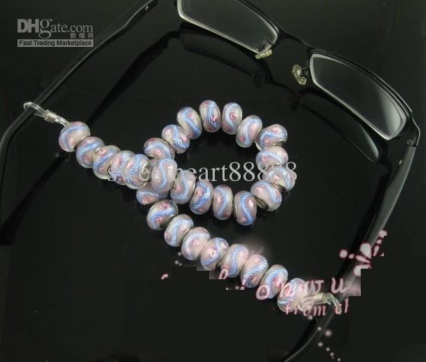 Clear Tone Ends pour lunettes porte-chaîne Hot / Fermoirs Crochets Résultats de bijoux Composants 21x4mm