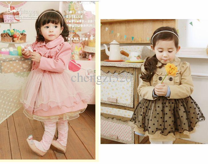 子供たちのドレス長袖ベールのチュチュドレス秋のスタイル