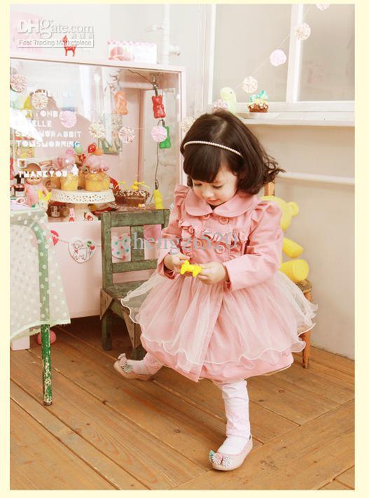 I bambini veste il velo a maniche lunghe di abiti autunno stile tuTu
