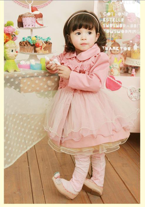 Kinderkleider langärmelige Schleier aus TuTu Kleider Herbst Stil