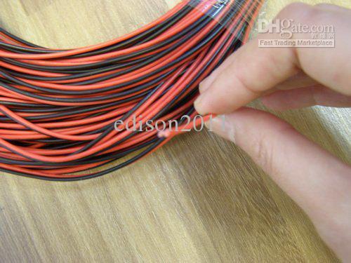 Cable de extensión de cable de cable de luz de tira de un solo color de 400 M 2 pines LED DHL Envío gratis
