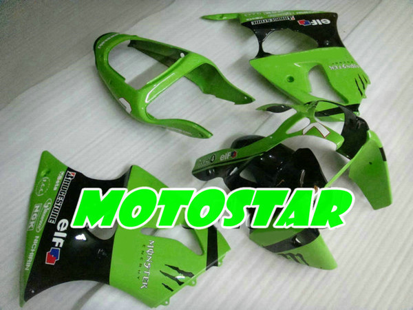 Kit de carénage gratuit pour Kawasaki Ninja ZX6R 636 00 01 02 ZX-6R 2000 2001 2002 ZX 6R carénage de course sur route
