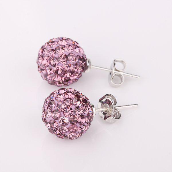 Modeschmuck 925 Silber Mix Farben 10mm Disco Kristall Clay Ball Perlen Stud Buy 1 erhalten 2