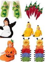 Wholesale Pea Sleep Bags - hot sale Baby sleeping bag caterpillar pea banana penguin chilli Pumpkin sleeping bags sack