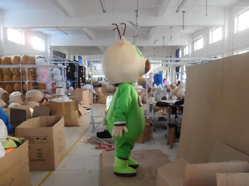 Trajes da mascote urso de pelúcia adulto verde para festa frete grátis boa qualidade
