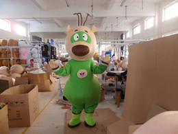 Wholesale Green Bear Mascot Costumes - plush adult green bear mascot costumes for party free shipping good quality