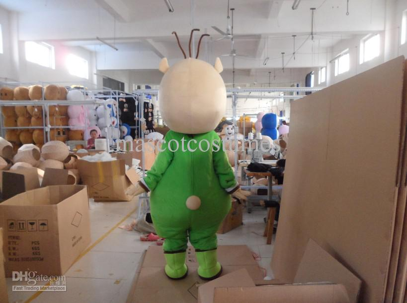 봉제 성인 녹색 곰 마스코트 의상 무료 배송 양질의 파티