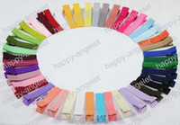 Wholesale Ribbon Covered Alligator Clips - free shipping hair accessories Single Prong cover Ribbon Lined Base Alligator Hair Clips Lined Clip Mixed Colors Available FASHION