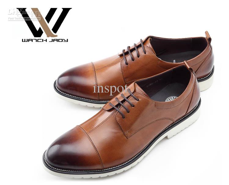 Mens Oxfords Dress Shoes Lace Up Gradient Leather Lined Free Shoe ...
