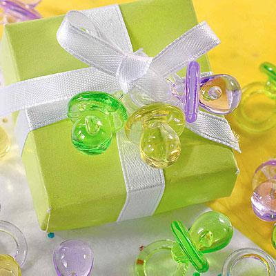 Livraison gratuite-Mini acrylique bébé sucette fête de naissance parti faveurs fournitures ~ charme mignon-gros