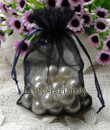 Wholesale Navy Blue Wedding Jewelry - FREE SHIPPING-100pc 10x15cm Navy Blue Sheer Organza Pouch Wedding Favor Party Jewelry Gift candy bag