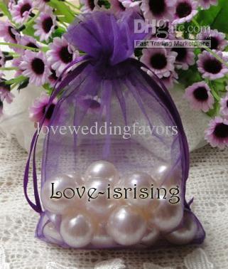 FREIE SHIPPING-100pc 10x15cm lila Sheer Organza-Beutel Wedding Favor Partei Schmuck-Geschenk / Bonbontüte