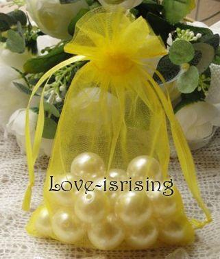 무료 배송 - 100pcs 10x15cm 화이트 쉬어 Organza 파우치 결혼식 호의 파티 쥬얼리 Gift / candy bag
