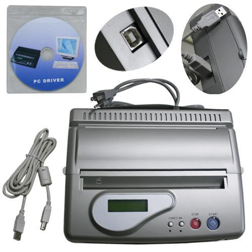 Copieur thermique de tatouage de machine de fabricant de pochoir de machine de transfert de tatouage d'USB