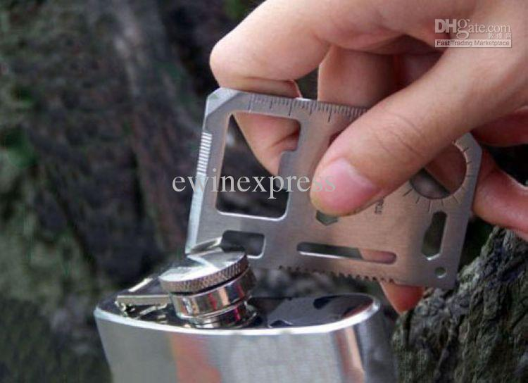 20 X Mini 11 in 1 Multi function Tool Size Pocket Military Multi-function Knife Tool