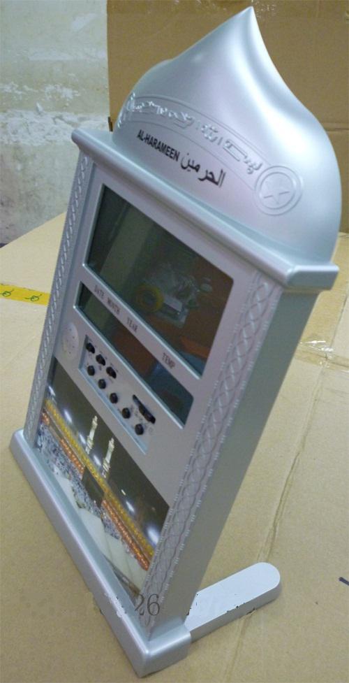 디지털 방식으로 Quran 벽 시계 무슬림의 시계 자동 파 지르 알람의 Qibla 방향 이슬람 Azan 시계
