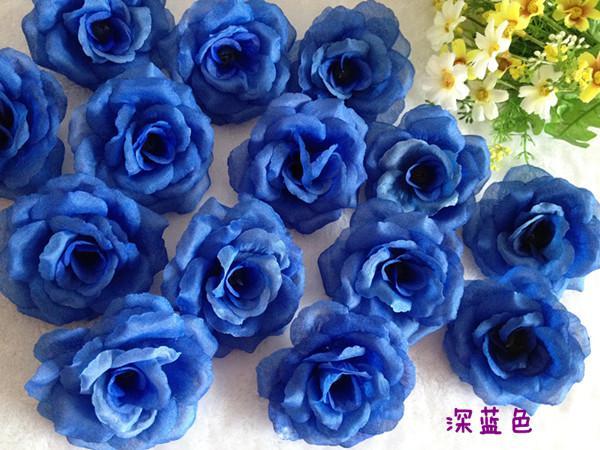 LIGHT BLUE 200P 8cm 인공 시뮬레이션 실크 동백 장미 작약 꽃 웨딩 크리스마스 파티