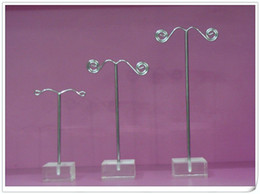Wholesale Metal Earring Stands - WHOLESALE FREE SHIPPING CLEAR ACRYLIC TREE JEWELRY EARRING DISPLAY STAND HOLDER SHOWCASE X 12set lot
