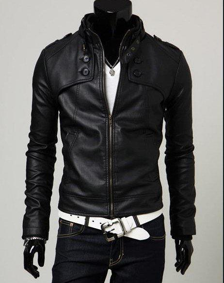 Hot Sale Casual Men's Jackets Pu Leather Jacket Waterproof High ...