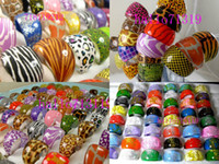 Wholesale Beautiful Lovely Women - 100 rings Mixed Fashion Men Women Beautiful shiny Resin Rings Wholesale Cute and lovely Jewelry job lot