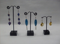 Wholesale Wholesale Jewelry Tree Stands - Wholesale Free Shipping Black Acrylic Tree Jewelry Earring Display Stand Holder Showcase X 12set lot