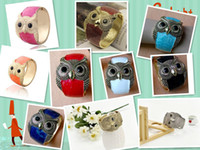 Wholesale High Quality Discount Jewelry - 30% discount Owl bracelet Fashion animal bracelet owl jewelry owl gold silver bracelet High Quality Exaggerated 12PCS Lot Free Shipping