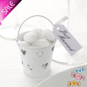 빈 틴 양동이 미니 양동이가 미니 양동이 사탕 상자를 선호합니다 생일 패키지가 기념일 기념 테이블 장식을 호의합니다