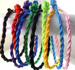 Wholesale Silk Jewellery - 200 X Mix color silk Bracelet Wrist knot lot JEWELRY JOB LOT Costume Jewellery