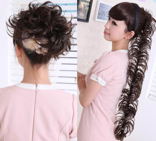 Long ponytail hair piece
