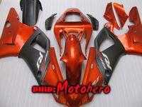 yzf r1 turuncu toptan satış-YAMAHA YZFR1 00 01 YZF-R1 00 Enjeksiyon kalıplama için Fairing kiti ABS 01YZF R1 2000 2001 YZF 1000 fairings turuncu siyah + ücretsiz hediye