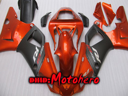 Wholesale R1 Orange Fairings - Injection molding Fairing kit ABS for YAMAHA YZFR1 00 01 YZF-R1 00 01YZF R1 2000 2001 YZF 1000 fairings orange black + free gift