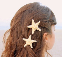 starfish wedding hair 2018 - Wholesale-Starfish Bride Barrette Beach Wedding Surfer Hair Clip WY1 cheap starfish wedding hair