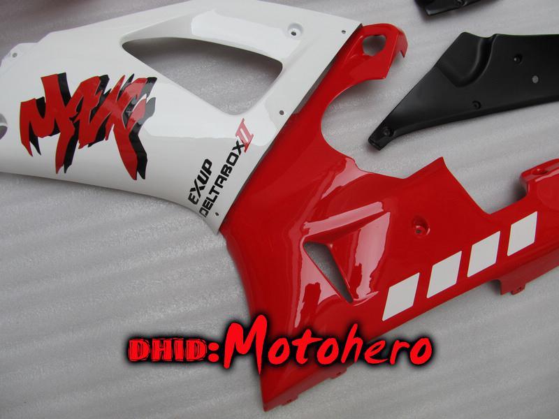 Stampaggio a iniezione Carrozzeria YZF-R1 98-99 YZFR1 YZF R1 98 99 YZF R 1 YZF 1000 98 99 1998 1999 carenatura ABS bianco rosso