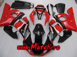 Wholesale Fairings For Yamaha - Fairings for YAMAHA YZF-R6 1998 - 2002 YZF R6 98 99 00 01 02 YZFR6 98-02 1998 1999 2000 2001 2002 red black fairing kit