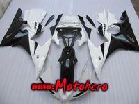 Wholesale r6 white fairing kit - New white black Fairings for YAMAHA YZF-R6 2003 2004 yzf600 YZFR6 03-05 2005 YZF R6 03 04 05 ABS Fairing kit +7 Gifts