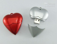 Wholesale Heart Shaped Usbs - DHL shipping OEM Full Capacity heart shape mini USB Flash Drive usb driver 4gb 8gb memory