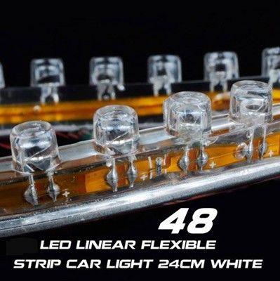 حار بيع مرنة 48cm 48LEDs ماء بقيادة قطاع السيارات الخفيفة الشريط فيديكس 5 لون الشحن المجاني