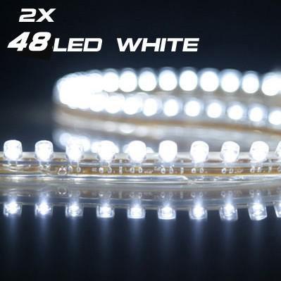 뜨거운 판매 Flexible 방수 48cm 48LEDs SMD는 스트립 자동차 스트립 라이트 페덱스 5 색 무료 배송