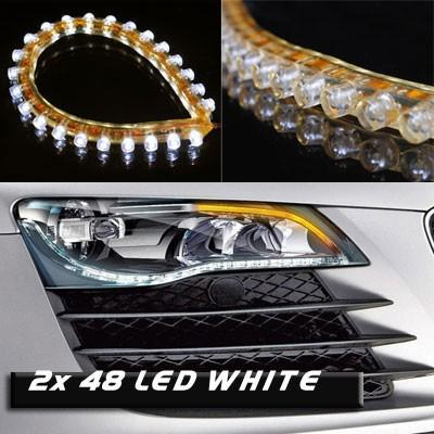 Frete grátis carro LED tira luz flexibilidade À prova d 'água 48cm 48leds smd tira luz 5 cores disponíveis