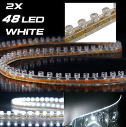 Wholesale Free Shipping Car led Strip Light Flexiable Waterproof 48cm 48LEDs SMD Strip light 5 color available