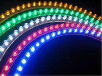 fedex grün großhandel-Heißer Verkauf Flexiable imprägniern 48cm 48LEDs SMD geführte Farbe des Streifen-Auto-Streifen-Lichtes fedex 5 Freies Verschiffen