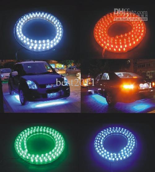 Gratis frakt Bil LED Strip Light Flexible Vattentät 48cm 48LEDS SMD Strip Light 5 Färg tillgänglig